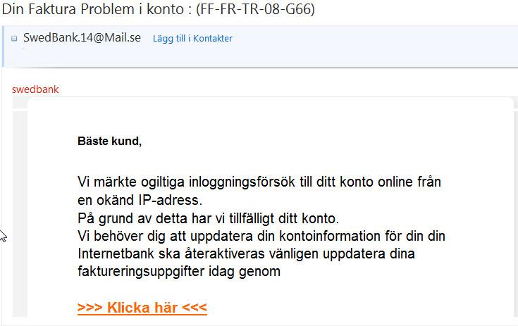 swedbank bedrägeri