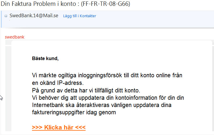 swedbank email